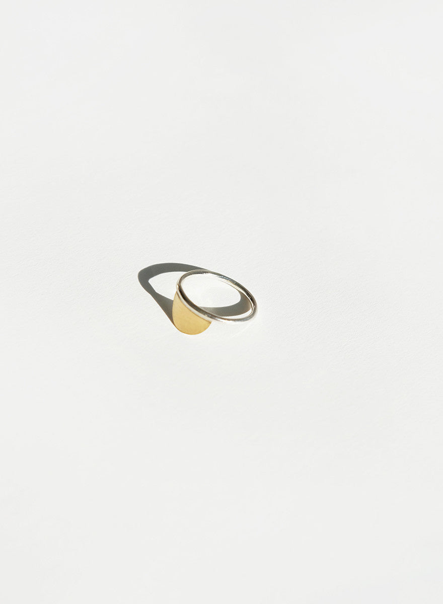 Knuckle Kiss - Horizon Ring - Brass/Silver