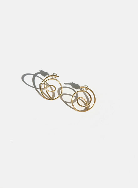 Knuckle Kiss - Tangle Earrings - Brass