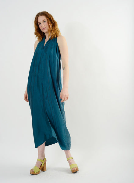 Luis Halter Dress - Teal