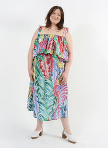 Mai Tai Dress - Floral Palm