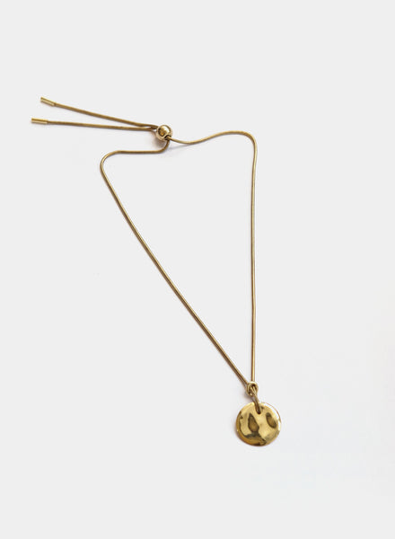Soko - Rippled Disc Necklace