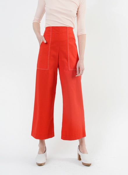 Stitched Harold Pant - Red