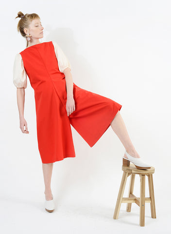 Stitched Pocket Jumpsuit - Red