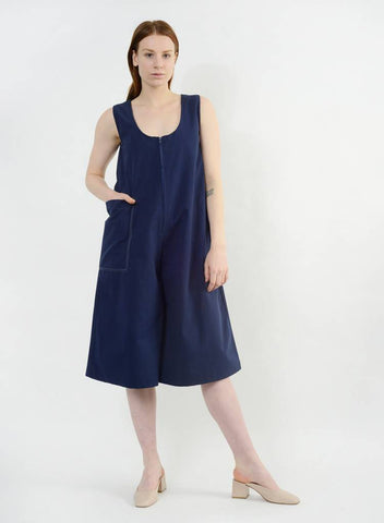 Stitched Pocket Jumpsuit - Navy