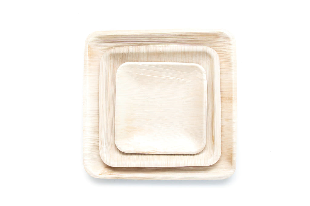 Square Leaf Plates - Pack of 25