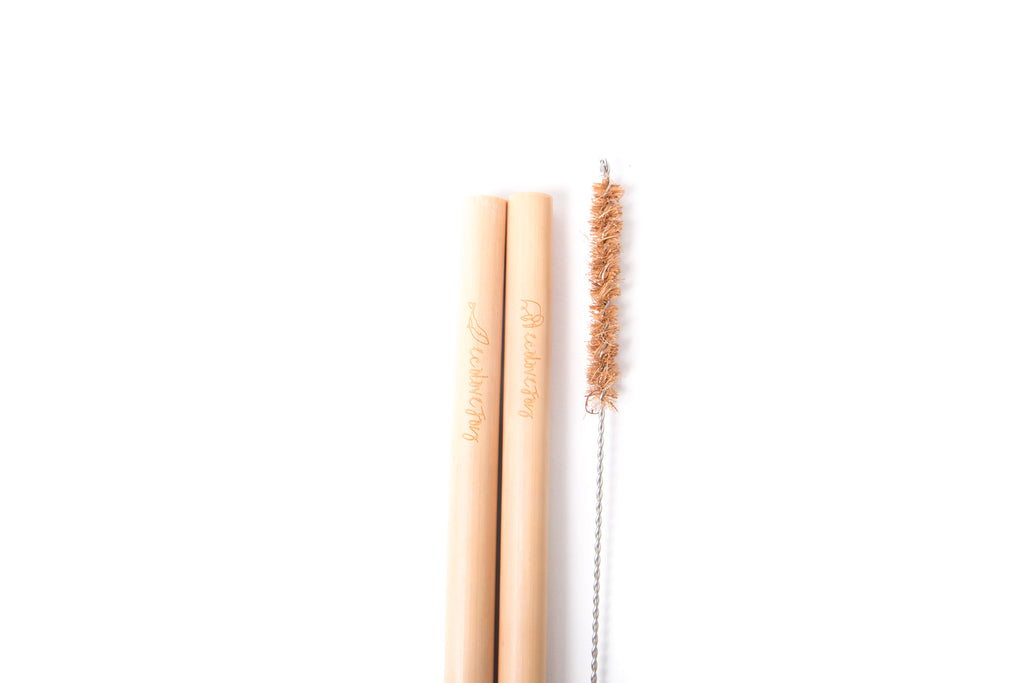 Bamboo Straws (Smoothie 7-10mm) - Set of 2
