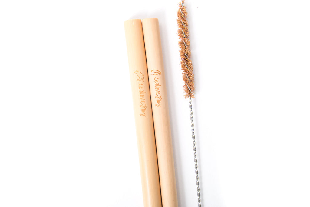 Bamboo Straws (Drinking 5-6.5mm) - Set of 2