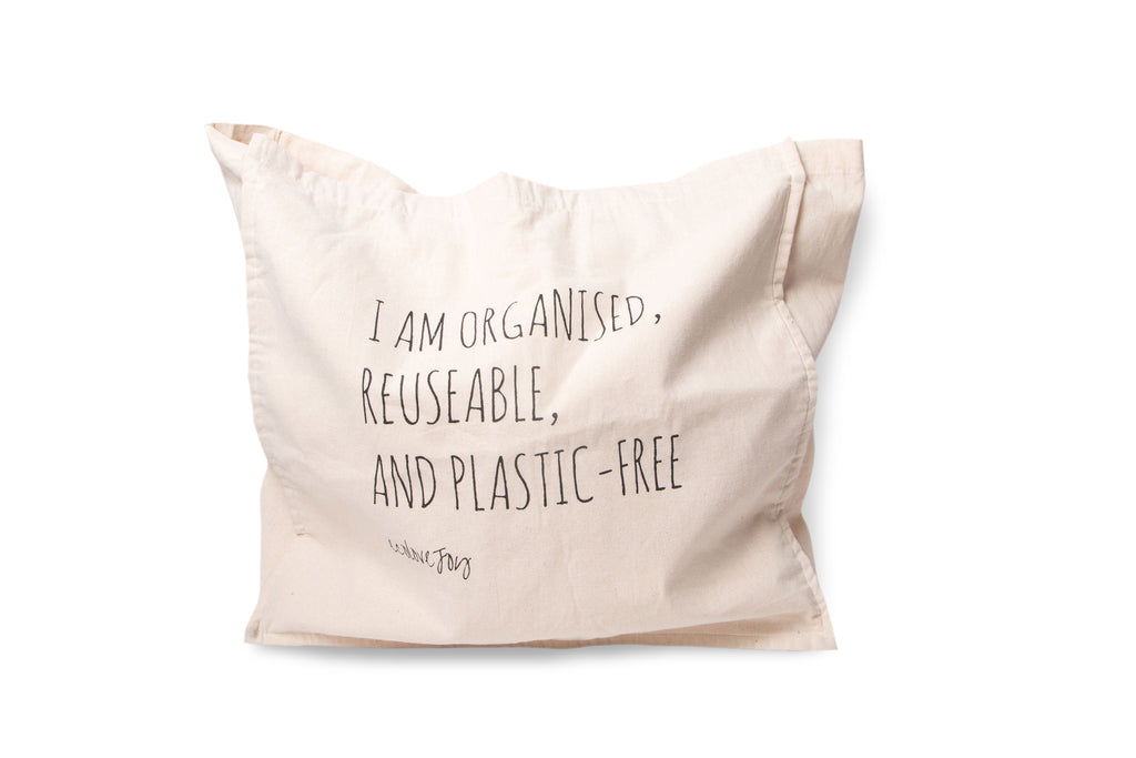 "Reusable Grocery Bag – ""Organised, Reusable & Plastic-free"""