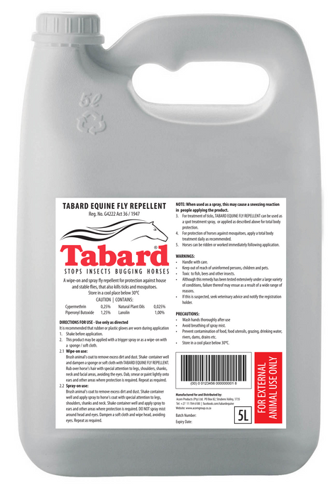 Tabard Equine Fly Repellent (5L)