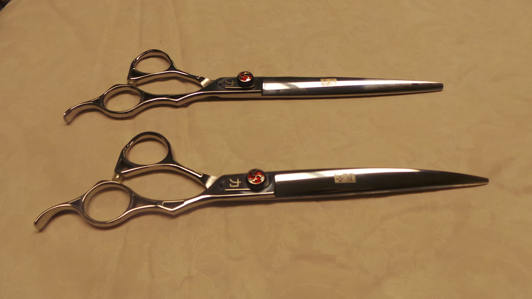 7 inch and 8 inch Red Fire Ergonomic Shears