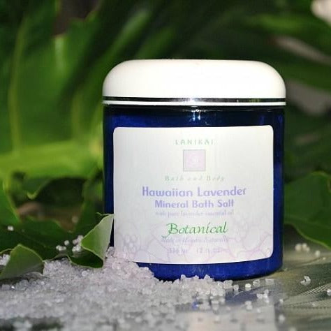 Shop online High quality Hawaiian Lavender Mineral Bath Salt 12 oz. - Lanikai Bath and Body