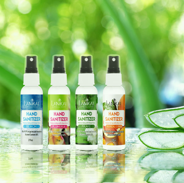 Shop online High quality Natural Sanitizer Trio Special ~ Mist and Gel Trio Sets - Lanikai Bath and Body
