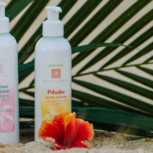 Shop online High quality Pikake Lotion 8.5 oz | 2.2 oz - Lanikai Bath and Body