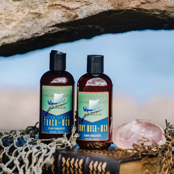 Shop online High quality Pohaku Island Sandalwood Gift Sets in Lauhala Gift Box - Lanikai Bath and Body
