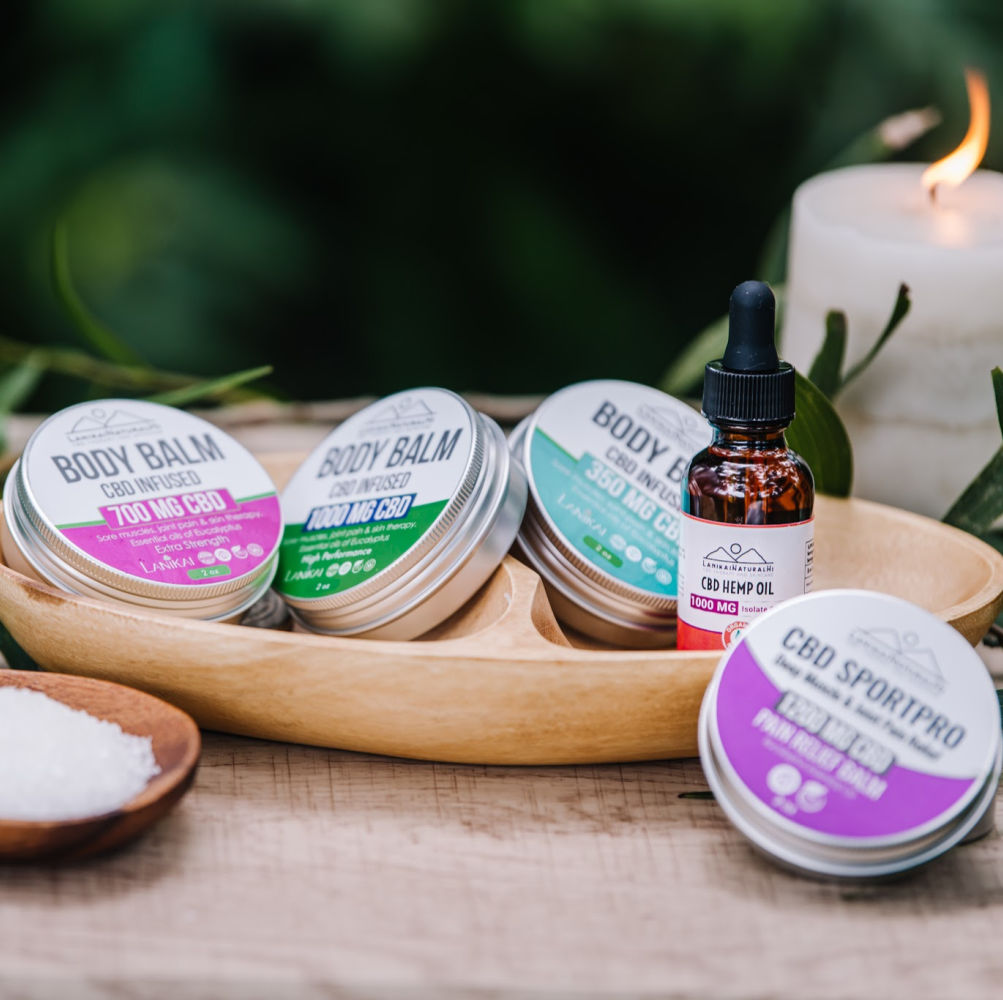 Shop online High quality CBD Hemp Balms for Pain Relief - Lanikai Bath and Body