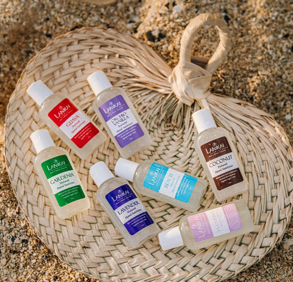 Shop online High quality Natural Hand Sanitizer Gel, Set of 12, 2 oz - Lanikai Bath and Body