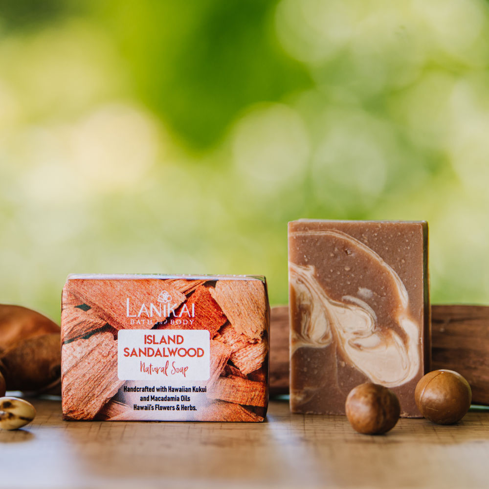 Shop online High quality Natural Island Sandalwood Soap - Lanikai Bath and Body