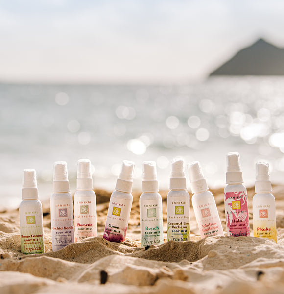 Shop online High quality Face and Body Mists 4.5 oz and 2 oz - Lanikai Bath and Body
