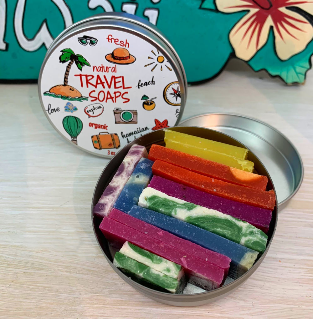 Shop online High quality Travel Soaps {in handy travel tin} 3 oz - Lanikai Bath and Body