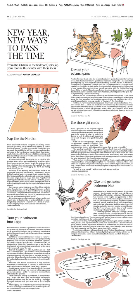 Globe and Mail - Effleure Scented Lingerie
