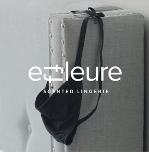 Effleure scented g-string on headboard