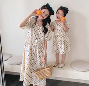 Matching Polka Dot Long Dress