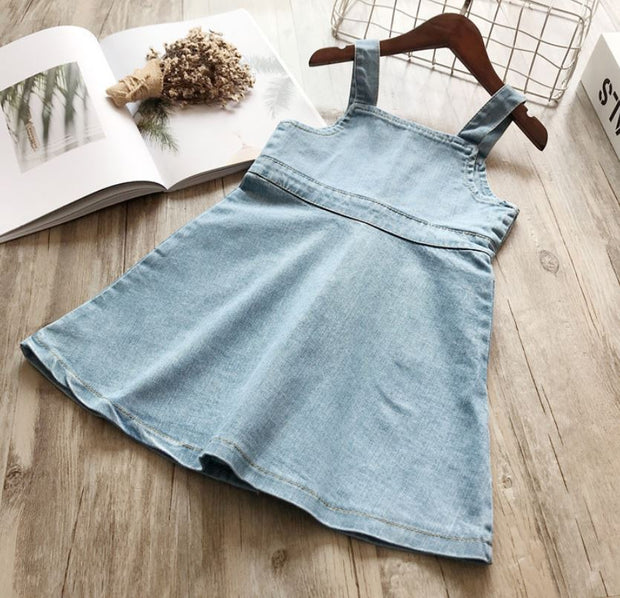 Vintage Denim Buttoned Dress