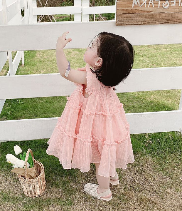 Chiffon Cupcakes Dress in Fairy Pink