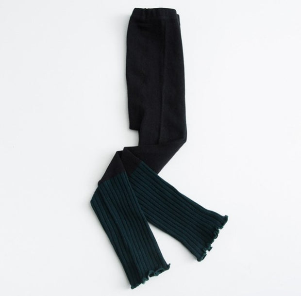 Ruffled Cotton Leggings