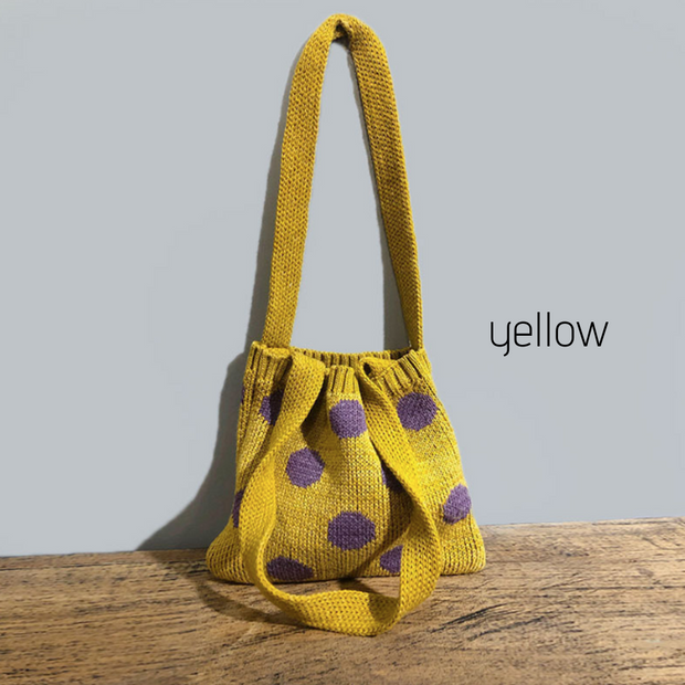 Polka Dots Handmade Knitted Bag