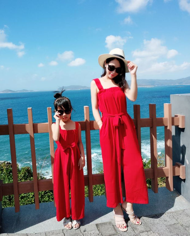 Matching Bohemian Jumpsuit in Red