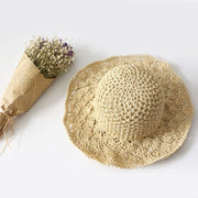 Handcraft Straw Sun Hat in Beige