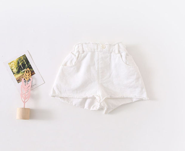 Buttoned Wide Leg Shorts