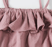 Striped Tie-Strap Romper (In-Stock)