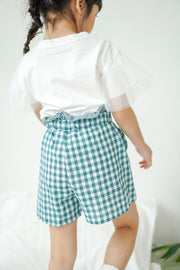 Ruffled Checkered Shorts