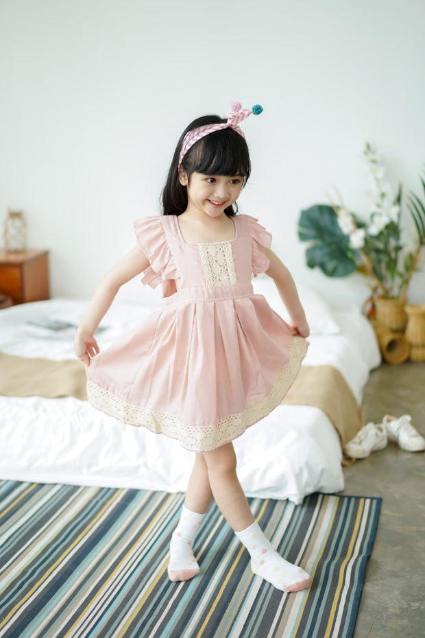 Flower Embroidered Ruffled Dress