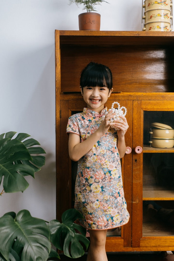 Floral Cheongsam Dress (In-Stock)