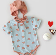 Teddy Bear Romper with Hat