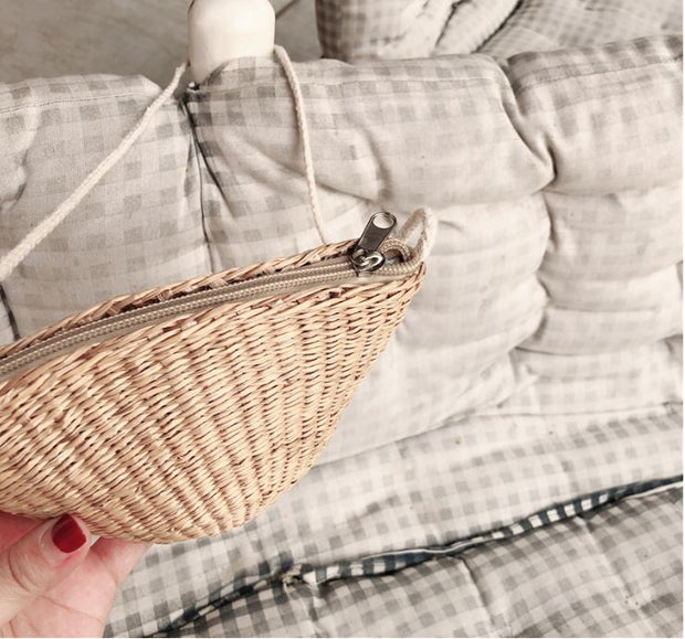 Mini Summer Straw Beach Bag