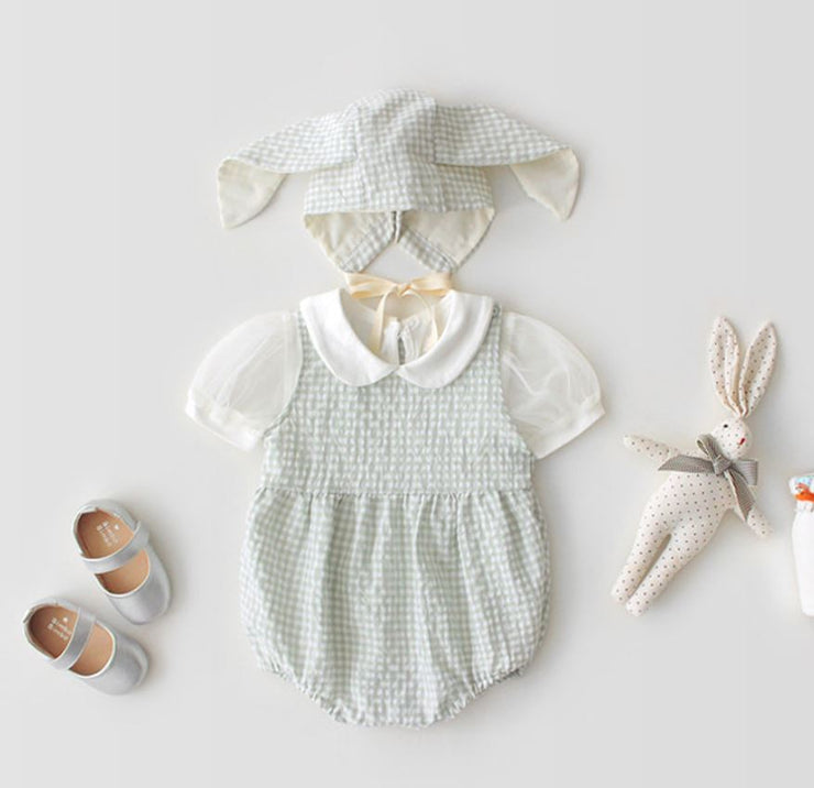 Rabbit Checkered Romper