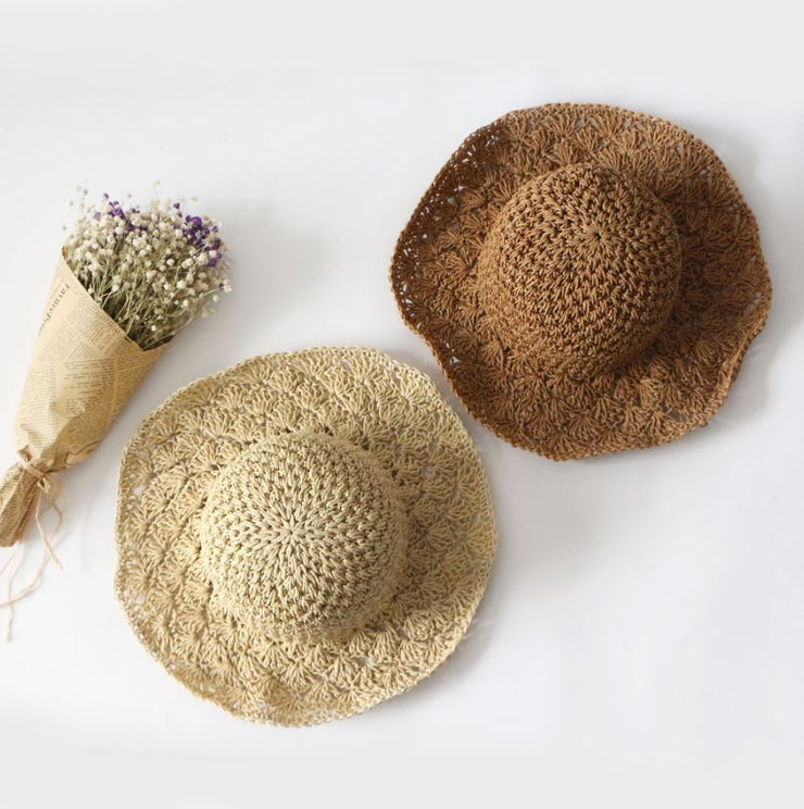 Handcraft Straw Sun Hat in Dark Khaki