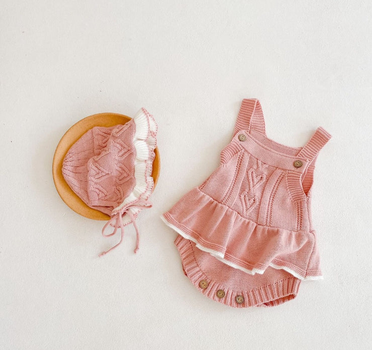 Heart Ruffled Romper
