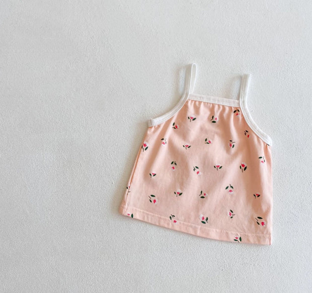 Floral Two-Piece Set in Sweet Pink