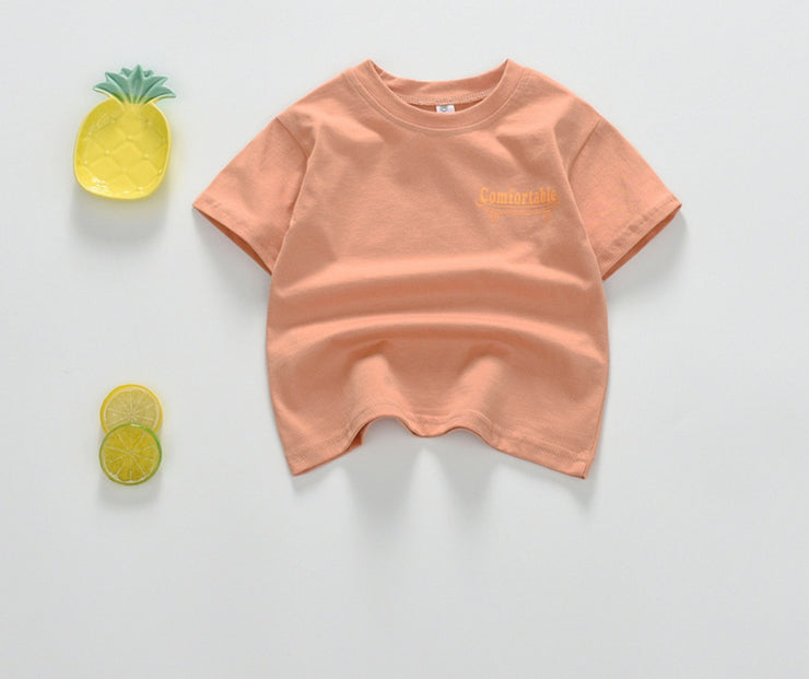 COMFORTABLE Tee in Peach