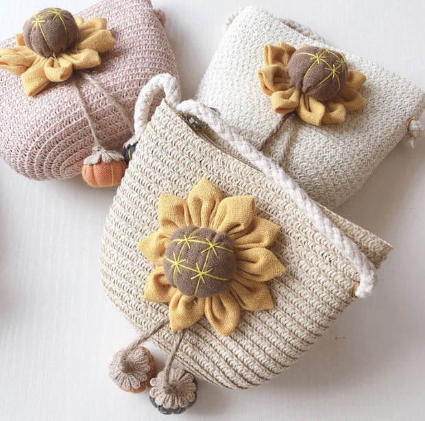 Sunflower Straw Bag