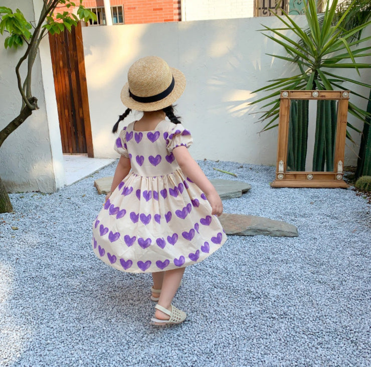 Puff Sleeves Princess Dress
