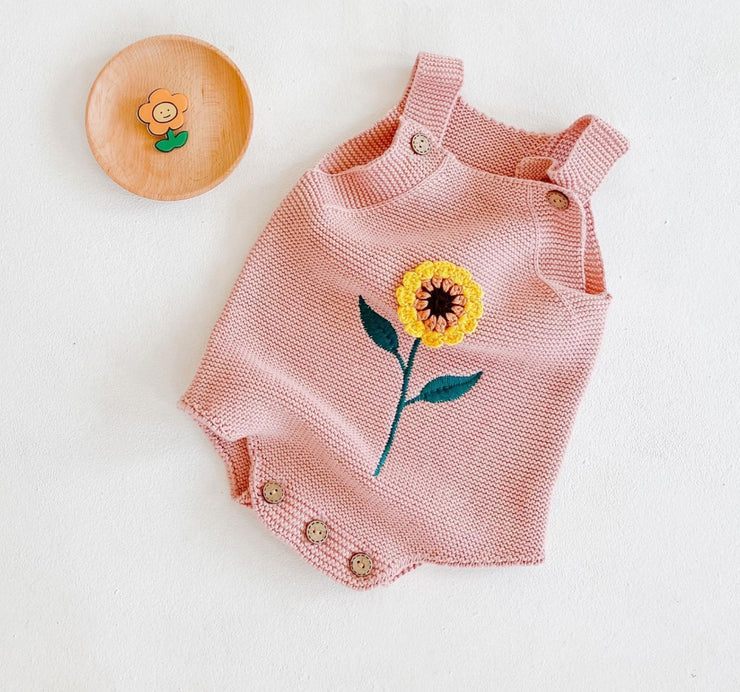 Sunflower Romper in Pink (In-Stock)