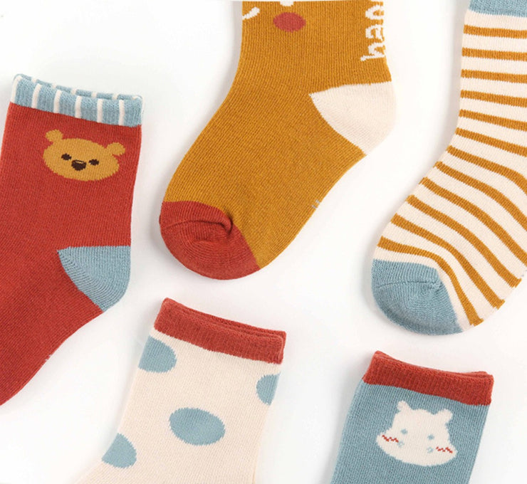 Fun Animal Socks Set (5 pairs in 1 set)