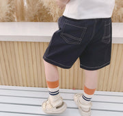 Dark Blue Drawstring Shorts