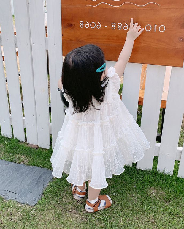 Chiffon Cupcakes Dress in Pure White